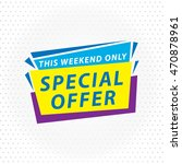 special offer sale tag discount ... | Shutterstock .eps vector #470878961