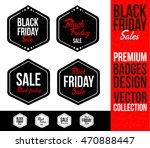 black friday logo badge and...   Shutterstock .eps vector #470888447