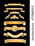 vector golden banners set | Shutterstock .eps vector #47088901