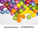 coloured smarties sweets | Shutterstock . vector #470890991