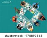 vector businessman teamwork ... | Shutterstock .eps vector #470893565