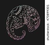 ethnic elephant seamless... | Shutterstock .eps vector #470899301