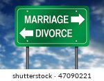 Directional Sign With