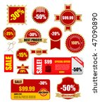sale labels and banners  ... | Shutterstock .eps vector #47090890