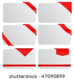 vector empty tags set | Shutterstock .eps vector #47090899