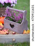 Heather In Wooden Basket With...