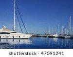 blue marina view saltwater... | Shutterstock . vector #47091241