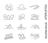 landscape icons set   isolated ... | Shutterstock .eps vector #470919701