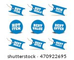 blue discount tags  sticker  ... | Shutterstock .eps vector #470922695