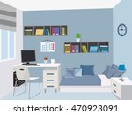 modern teenage room . stylish... | Shutterstock .eps vector #470923091