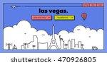 las vegas modern web banner... | Shutterstock .eps vector #470926805