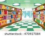 supermarket. | Shutterstock .eps vector #470927084
