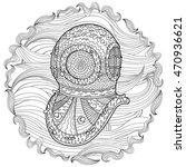 antique divers helmet hand draw ... | Shutterstock . vector #470936621