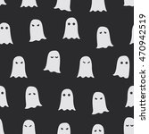 ghosts. seamless halloween... | Shutterstock .eps vector #470942519