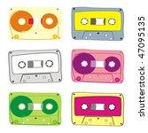 fully editable vector audio... | Shutterstock .eps vector #47095135