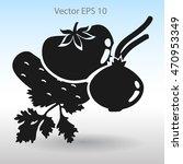 flat vegetables icon | Shutterstock .eps vector #470953349