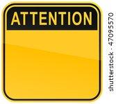 Yellow Warning Blank Attention...