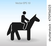 riding horse vector icon | Shutterstock .eps vector #470956025