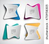 origami banner set   isolated... | Shutterstock .eps vector #470958305