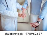 doctor supporting female patient | Shutterstock . vector #470962637
