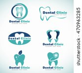 dental clinic logo sign vector... | Shutterstock .eps vector #470963285