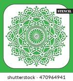 stencil. ethnic decorative... | Shutterstock .eps vector #470964941