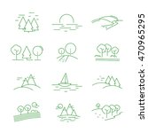 landscape icons set   isolated... | Shutterstock .eps vector #470965295