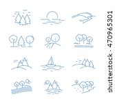 landscape icons set   isolated... | Shutterstock .eps vector #470965301