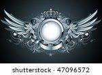 vector illustration of heraldic ...