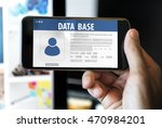 database information system... | Shutterstock . vector #470984201
