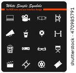 cinema simply symbols for web... | Shutterstock .eps vector #470985791