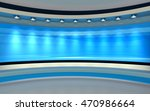 blue studio.  blue back drop.... | Shutterstock . vector #470986664