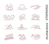 landscape icons set   isolated... | Shutterstock .eps vector #470990501