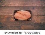 unopened pack of 2 raw chicken... | Shutterstock . vector #470992091
