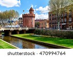 view to the canal and castle of ... | Shutterstock . vector #470994764