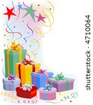 gift boxes with decorative bows ... | Shutterstock . vector #4710064