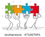 work together      stick... | Shutterstock .eps vector #471007091