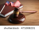 judge gavel with book and
