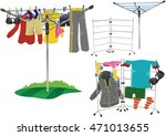 rotary clothes drier and...