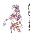 tribal dancer or belly dancer... | Shutterstock .eps vector #471023714