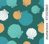 seashells seamless pattern... | Shutterstock .eps vector #471025865