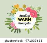 vector illustration of floral... | Shutterstock .eps vector #471033611