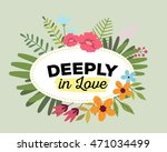 vector illustration of floral... | Shutterstock .eps vector #471034499