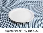 empty white plat on table caver ... | Shutterstock . vector #47105665