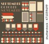 fall vector set template for... | Shutterstock .eps vector #471059699