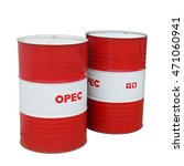 Small photo of OPEC concept isolated on white background. This has clipping path.