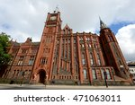 beautiful red brick building of ... | Shutterstock . vector #471063011