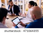 diverse group of four business... | Shutterstock . vector #471064355