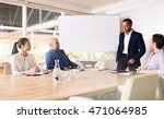 chairman of a company taking a... | Shutterstock . vector #471064985