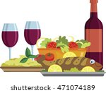 israel holiday. happy israel.... | Shutterstock .eps vector #471074189